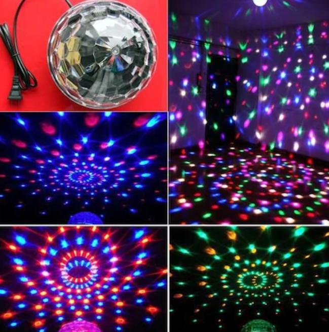 Led Kristal Küre Disko Topu 6 Renk-Usb-Sese Duyarlı Uzaktan Kumadalı