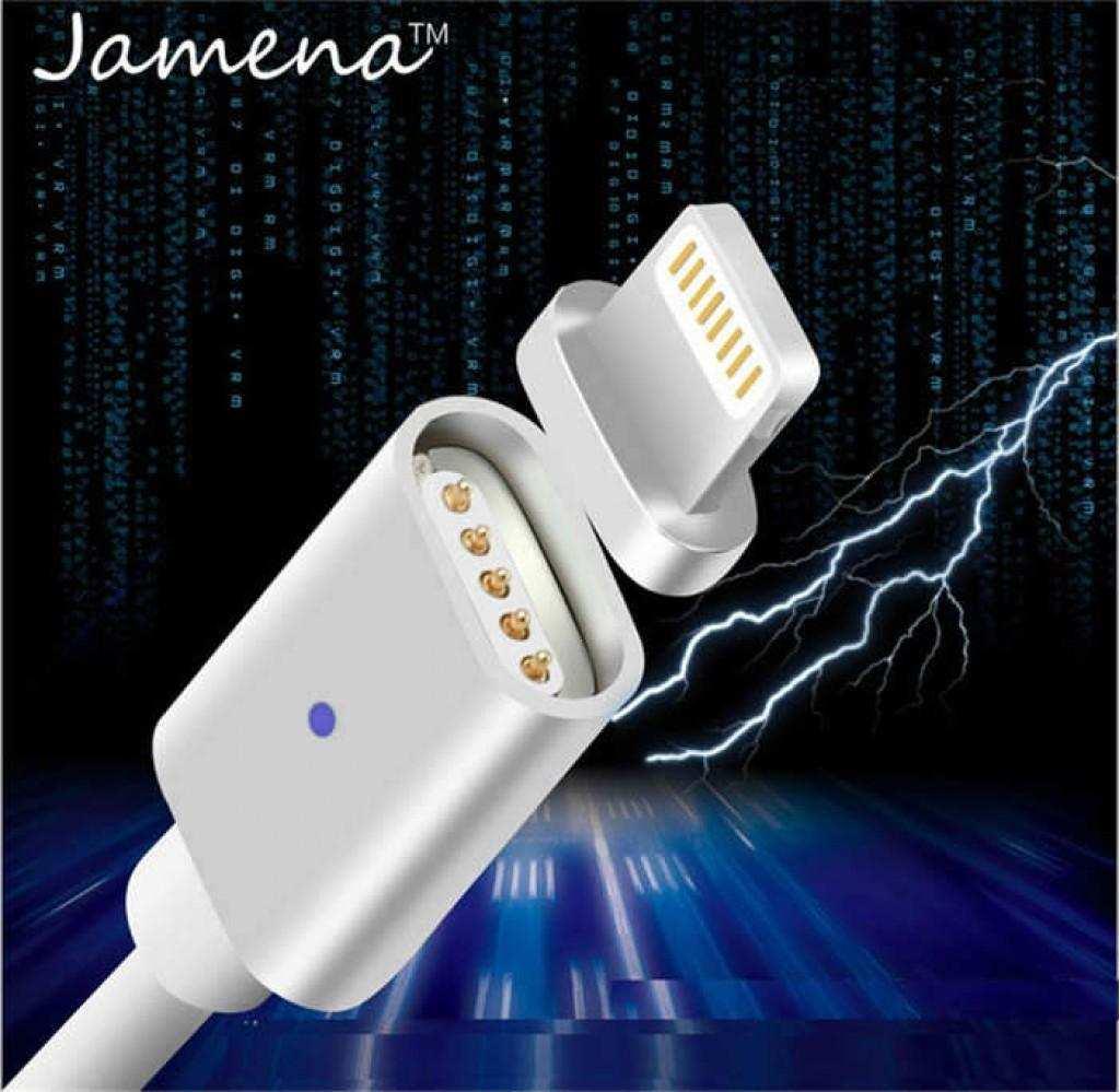 Apple iPhone Ledli Manyetik Lightning Mıknatıslı Şarj Kablosu