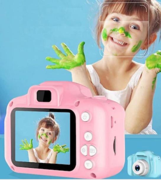 Hescom Mini 1080P HD Kamera Çocuklar İçin Dijital Fotoğraf Makinesi-Pembe