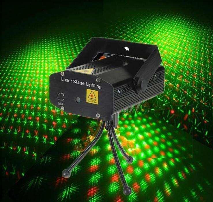 Adaptörlü Mini Laser Sahne Işığı