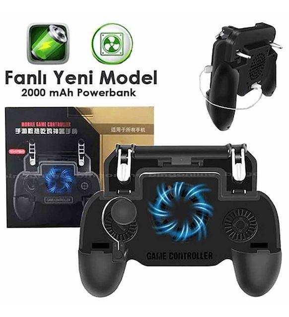 Gamepad SP+Fanlı Şarj Edilebilir Powerbanklı Telefon Oyun Konsolu