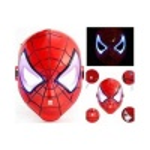 Işıklı Spiderman Maskesi-Extra Sağlam
