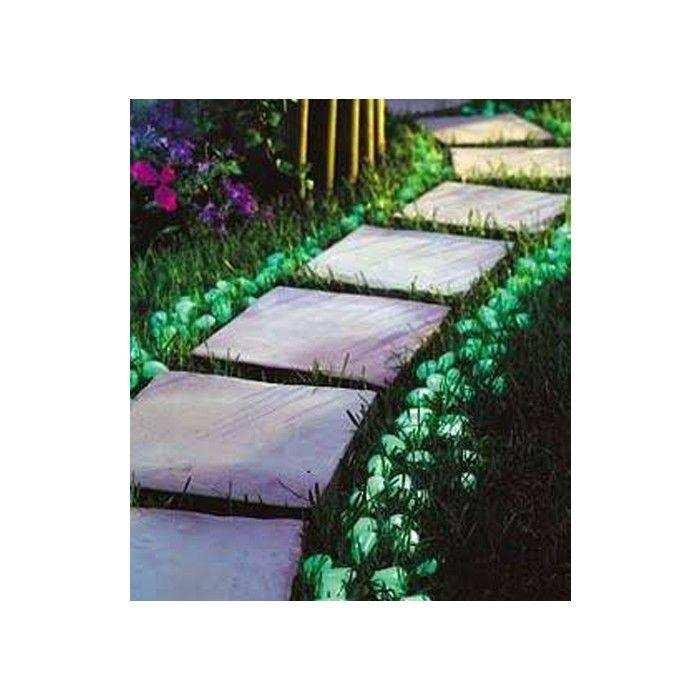 Dekoratif Fosforlu Çakıl Taşları (50 Adet)