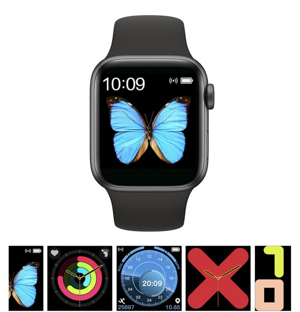 T500 Akıllı Saat Smart Watch Türkçe Menülü Arama Cevaplama Modu Yeni Sürüm-Siyah