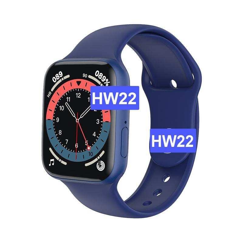 Hw 22 Tam dokunmati  Akıllı Saat Ios Ve Android Uyumlu-Mavi
