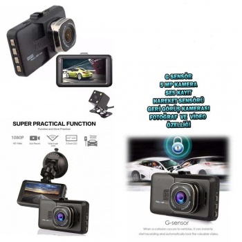 FHD 1080 Gece & arka Görüşlü  full hd 1080  araç Kamerası