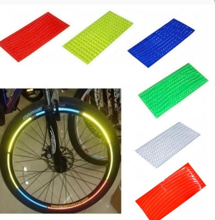 Reflektör Sticker - Bisiklet Teker Floresan Çıkartması-Yeşil Renk