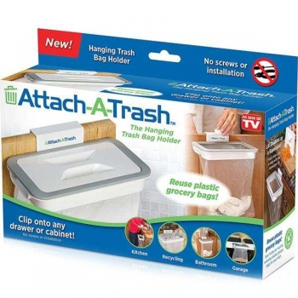 Mutfak Dolabına Asılan Çöp Poşeti Tutucu-KAPAKSIZ Model
