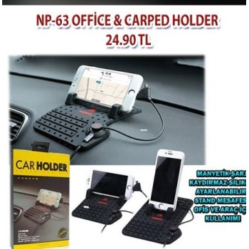 Ofis-Araç Car Holder-Şarjlı Telefon Stant