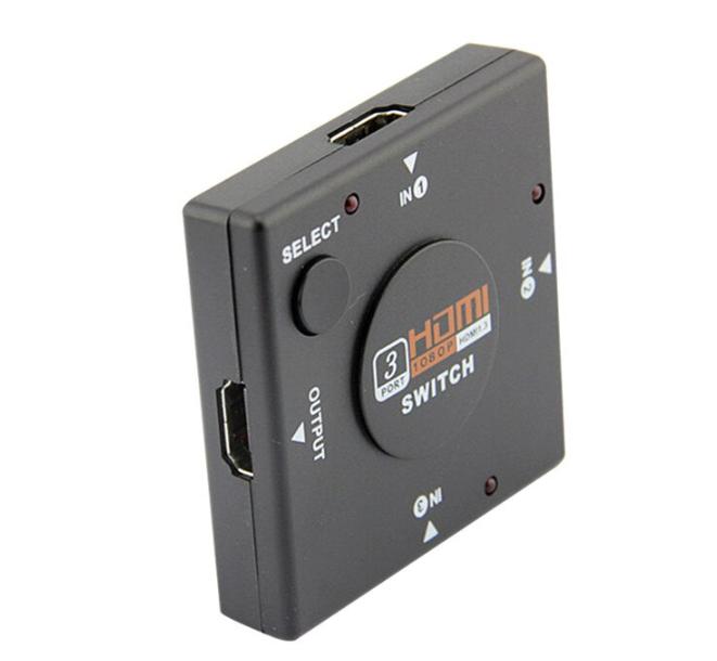 3 Port Switcher Splitter 3 in 1 out Seçici Adaptör