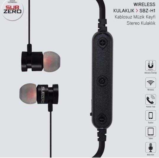 Subzero SBZ-H1 Spor Bluetooth Kulaklık-Siyah