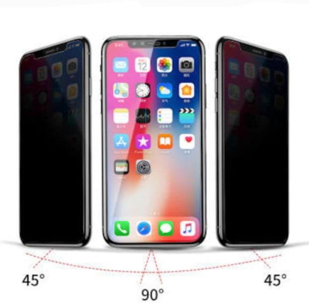 Apple Iphone XR Siyah  Komple Ekran Koruyucu 9d Hayalet Cam Privacy