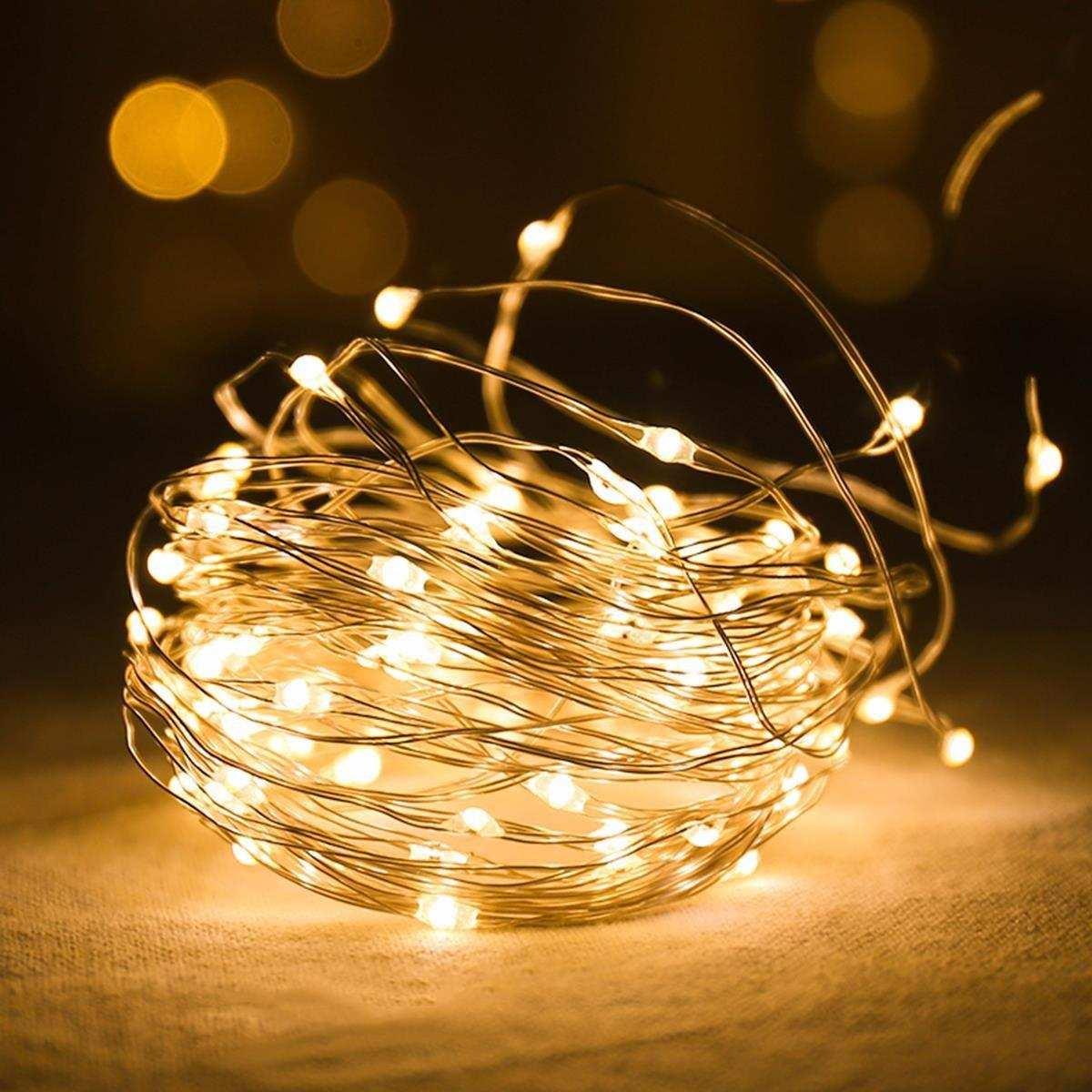 Peri Led Işık Pilli Aydınlatma Şerit Led Süsleme- (Sarı)