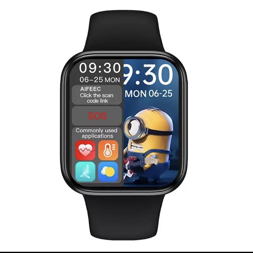 HW12  akıllı saat aktif yan tuş tam ekran