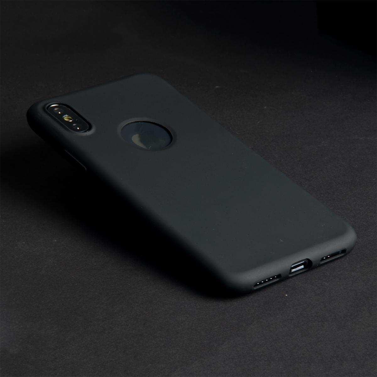 iPhone xs max Kılıf İnce Esnek Silikon Kılıf - Siyah