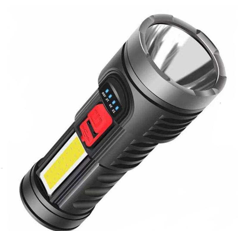 LED USB süper parlak uzun menzilli Şarjlı El Feneri