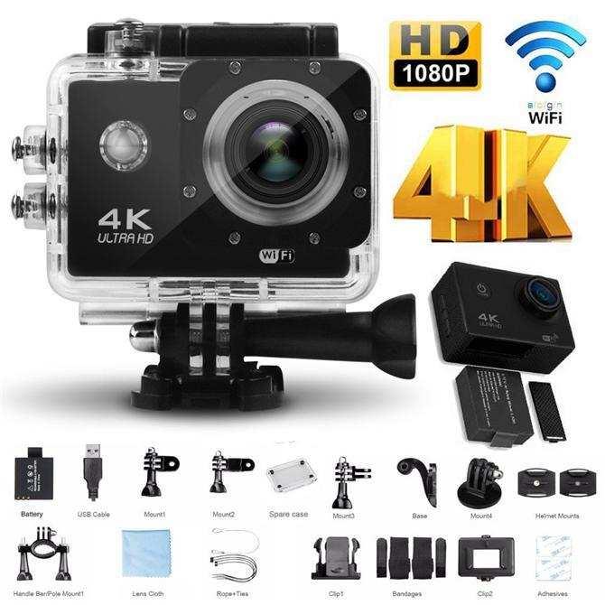 4K Ultra HD Wifi Aksiyon Kamera 2 inç Ekran
