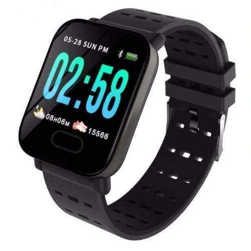 Sport Smart Watch Akıllı Saat Su Geçirmez, Tansiyon ve Nabız (Siyah)
