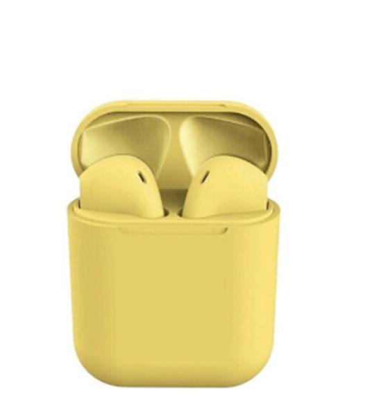 İ12 Tws  Bluetooth Kablosuz Kulaklık Sarı