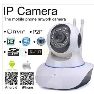 360º Full Hd Wifi Kablosuz Ip Kamera  2 Anten