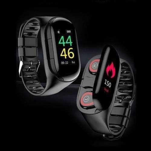 M1 Bluetooth Kulaklıklı Akıllı Saat Özellikli Akıllı Bileklik