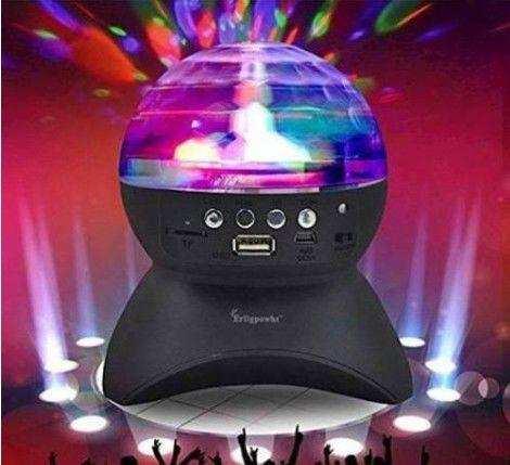Bluetooth Hoparlör  Disko Topu USB LED Işıklı