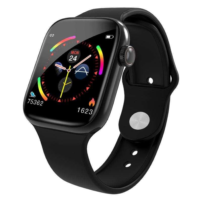 Tam dokunmatik ekran W4 IP67 su geçirmez akıllı saat-Siyah