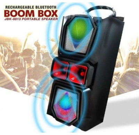 JBK-8813 Taşınabilir Bluetooth Hoparlör Süper Bass-Siyah