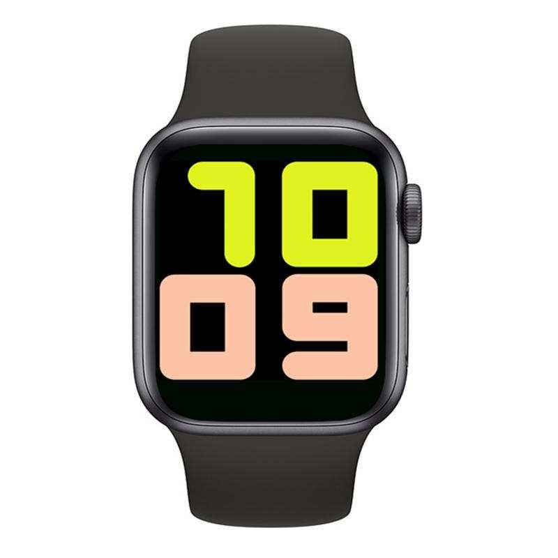 Türkçe Menü  Tam Kapasite Tam dokunmatik T500 akıllı Saat-Siyah