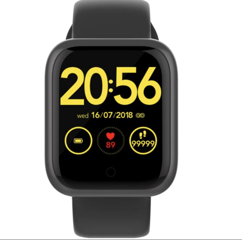 Uzun kullanım ve Bekleme Süreli  IP68 su geçirmez Akıllı saat-Siyah