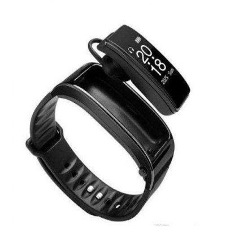 Yeni Y3 Akıllı Saat ve Bluetooth Kulaklık Nabız Monitörü -Siyah
