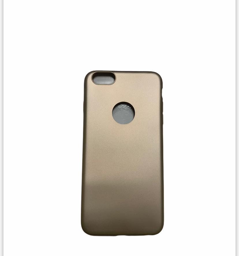 iPhone 6 plus Kılıf İnce Esnek Silikon Kılıf -Gold