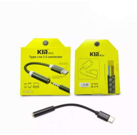 Type C 3.5mm Kulaklık Aux Dönüştürücü Kablo-Hasır