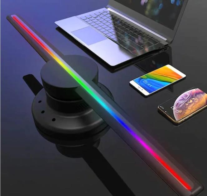3D Hologram Reklam Ekranı LED Fan, Holografik 3D