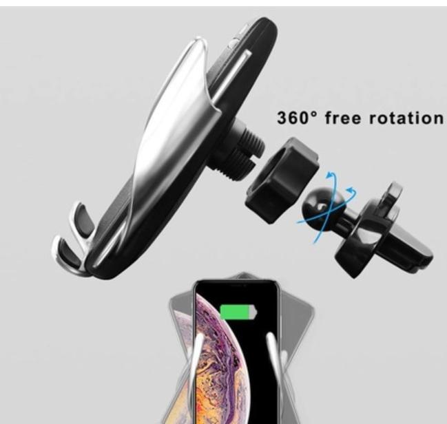 Wireless Kablosuz Şarj Araç İçi Sensörlü Telefon Tutucu