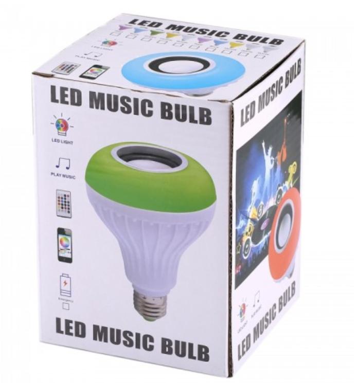 Bluetooth Hoparlör LED Ampul Tuşları Uzaktan Kumanda ile Lamba Değiştirme