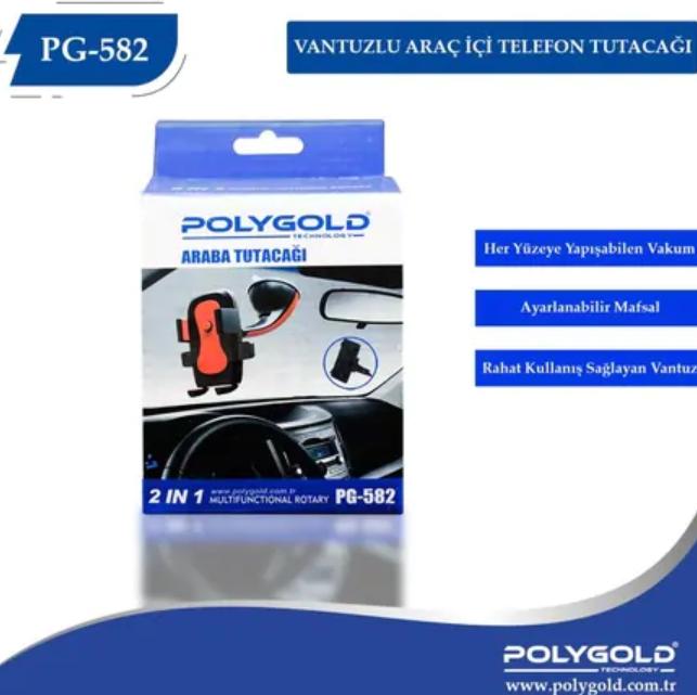 Polygold Vantuzlu Araba İçi Telefon Tutacağı