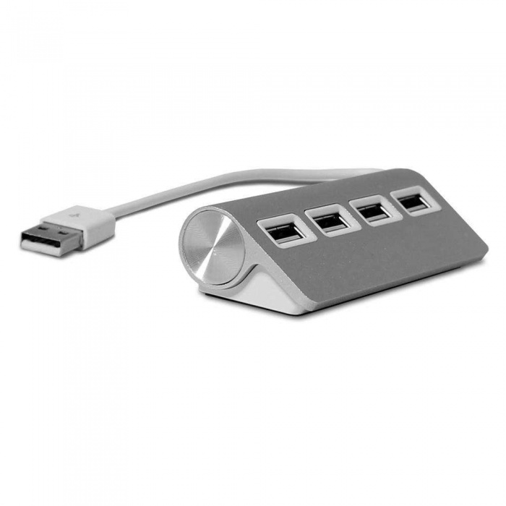 4 Port Aluminum USB Hub