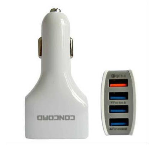 Concord Araç Çakmaklık Şarj Cihazı 4 USB