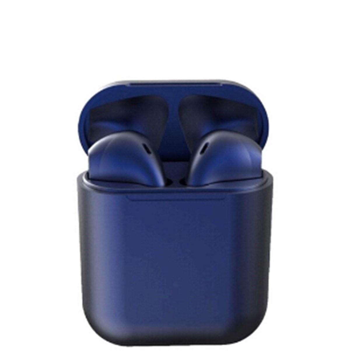 İ12 Tws  Bluetooth Kablosuz Kulaklık Mavi