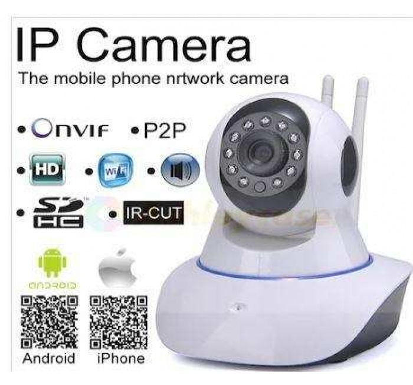 360º Full Hd Wifi Kablosuz Ip Kamera  2 Anten