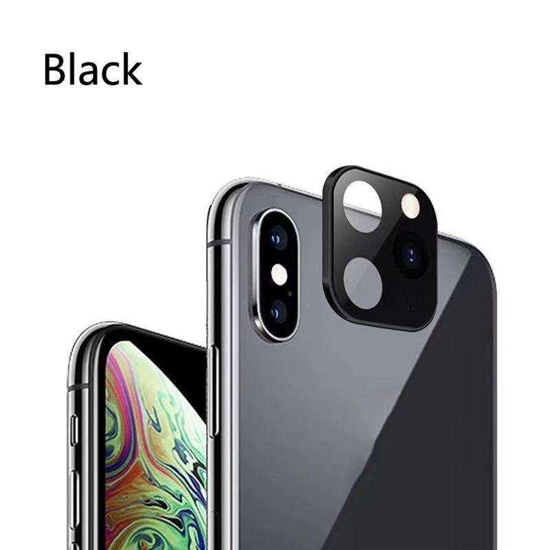 İphone X XS XR Telefonu 11 PRO MAX Değiştiren Arka Kamera aparatı Siyah-Beyaz