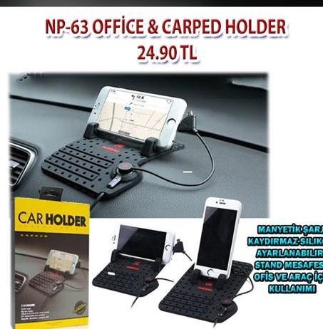 Ofis-Araç Car Holder-Şarjlı Telefon Stant