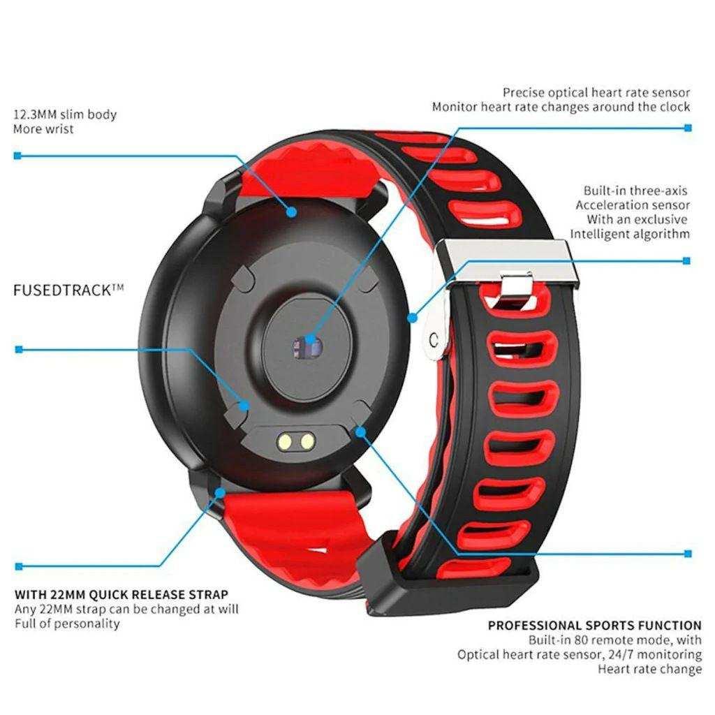 Mavi Renk kingboss Akıllı Saat Su Geçirmez,Bluetooth Özellikli