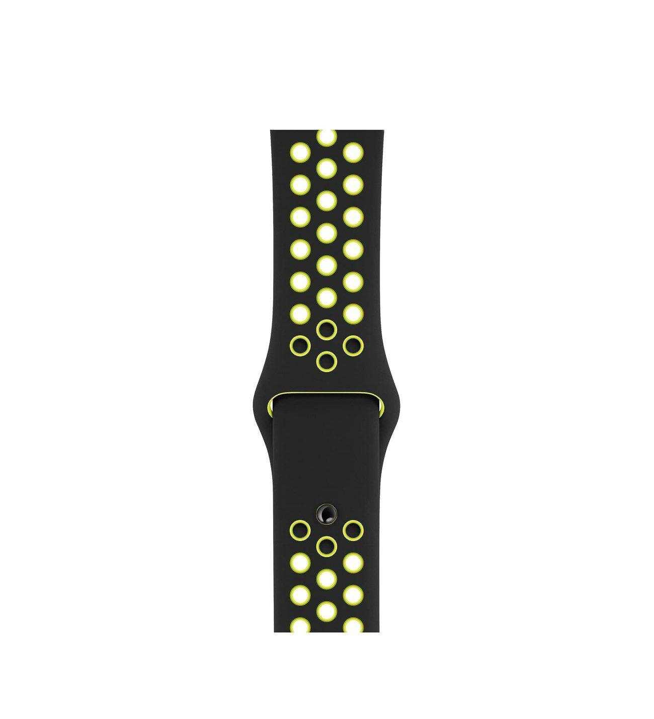 Apple Watch 42mm Spor Delikli Kordon Silikon Kayış Yeşil