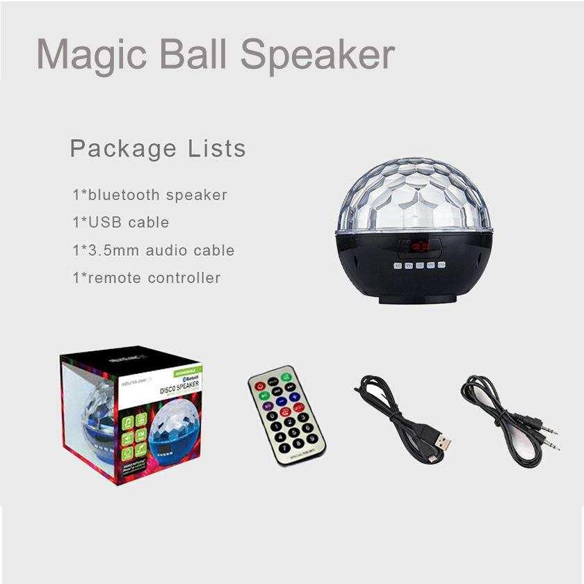 Yeni  LED Disco Parti Işıklı Bluetooth Hoparlör