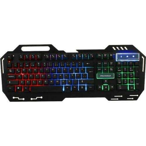 PG-956 Işıklı Oyuncu Klavyesi
