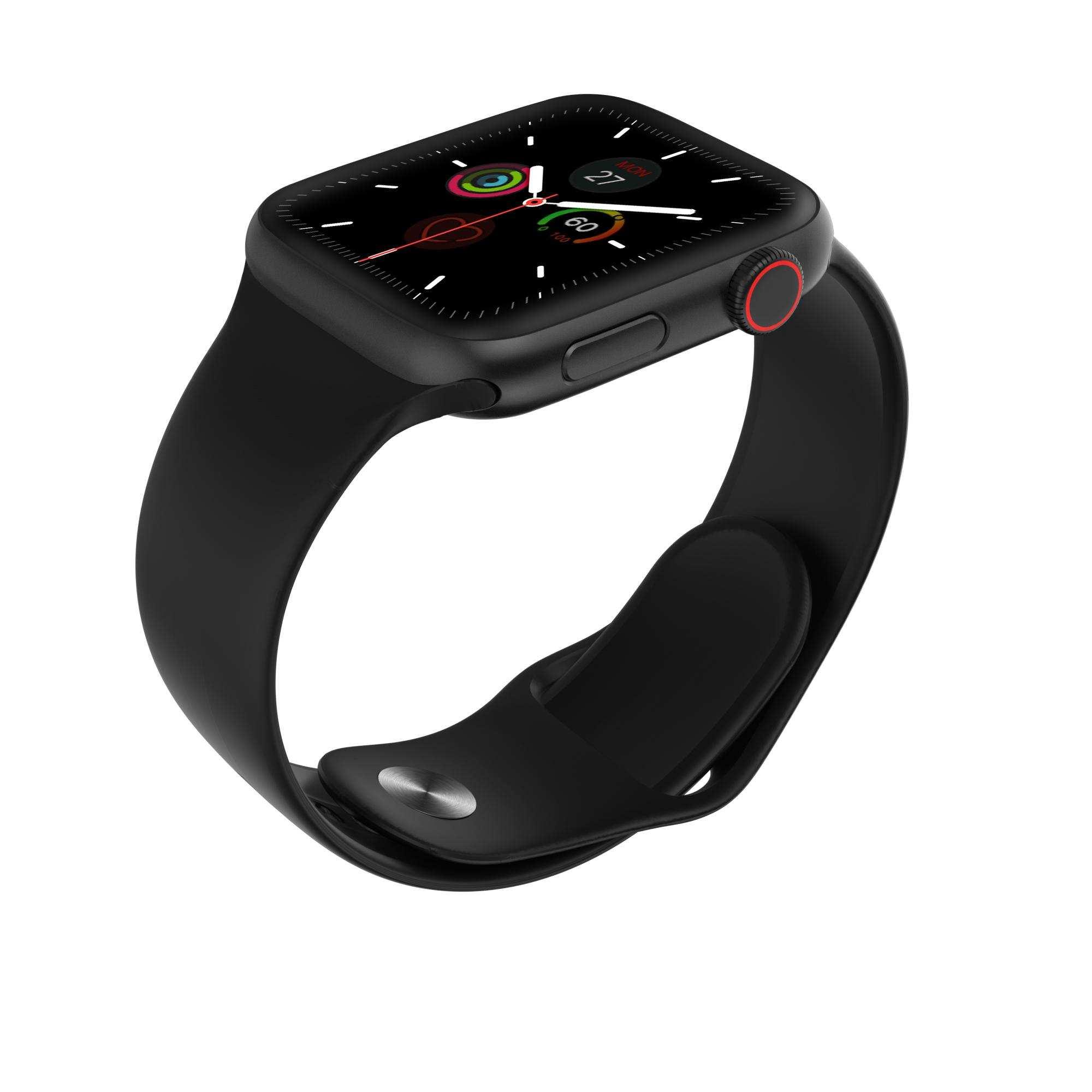 W68 akıllı saat erkekler nabız monitörü IP67 su geçirmez nabız monitörü smartwatch-SİYAH