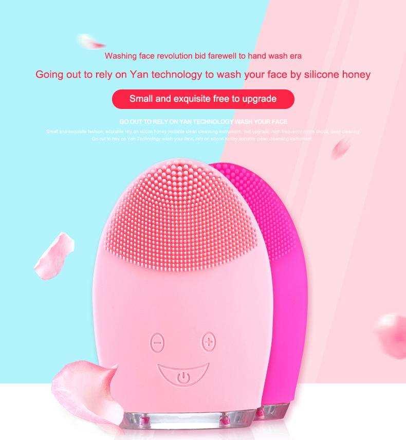 Şarjlı Silikon  Yüz Temizleme Cihazı ve Masaj Aleti
