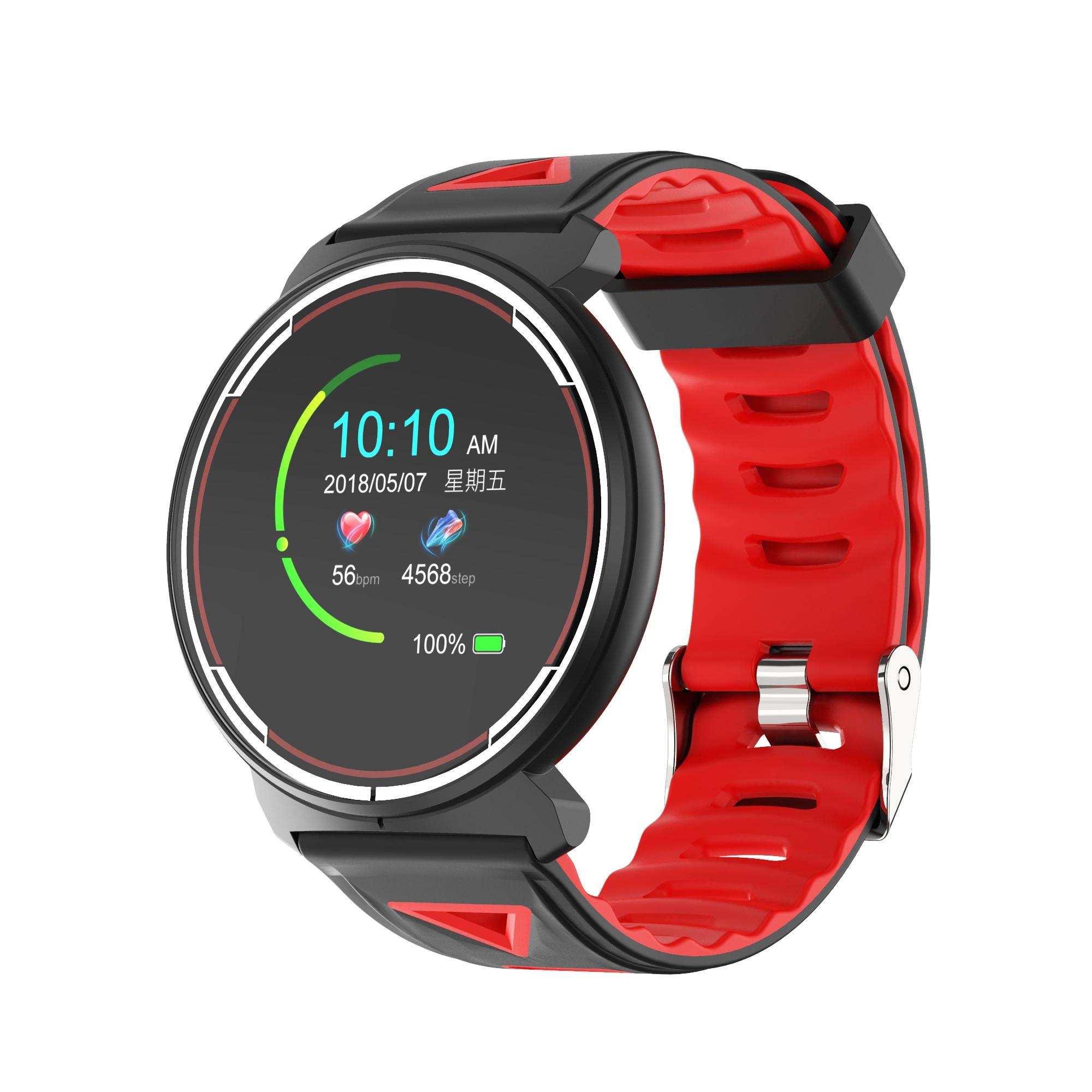 Kinboss Bracelet St1 Kingboss Akıllı Saat-Kırmızı